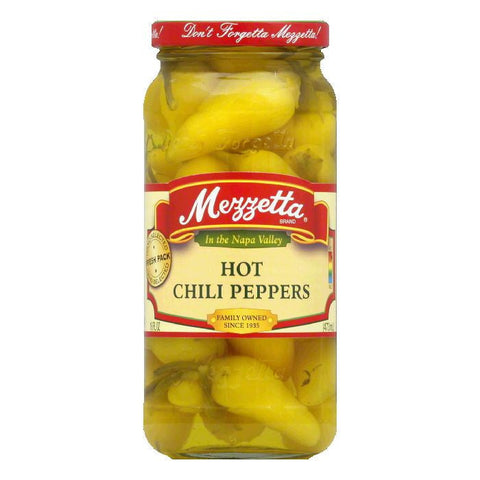 Mezzetta Chili Peppers Hot, 16 OZ (Pack of 6)