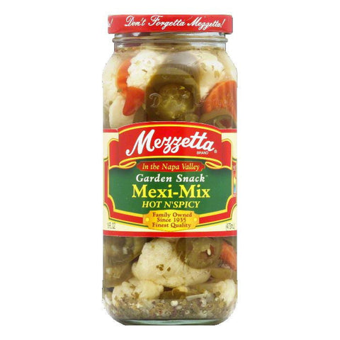 Mezzetta Mexi Mix Spicy Hot, 16 OZ (Pack of 6)