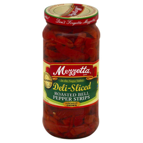 Mezzetta Deli-Sliced Roasted Bell Pepper Strips, 16 Oz (Pack of 6)