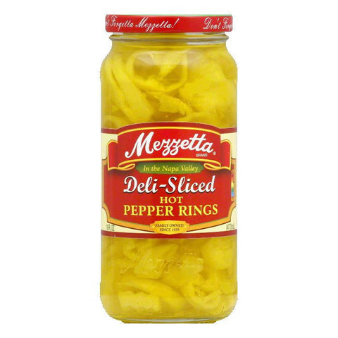 Mezzetta Sliced Hot Banana Wax Pepper, 16 OZ (Pack of 6)