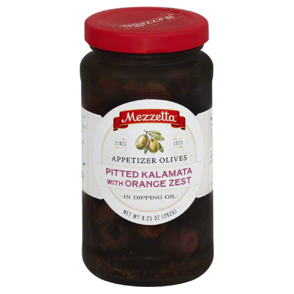 Mezzetta Appetizer Pitted Kalamata with Orange Zest Olives in Dipping Oil, 9.25 Oz (Pack of 6)
