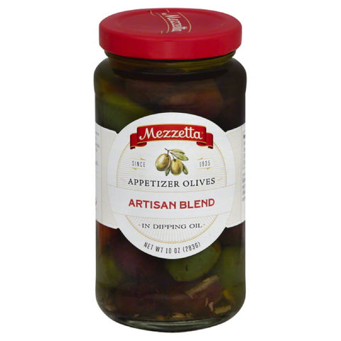 Mezzetta Appetizer Artisan Blend Olives in Dipping Oil, 10 Oz (Pack of 6)