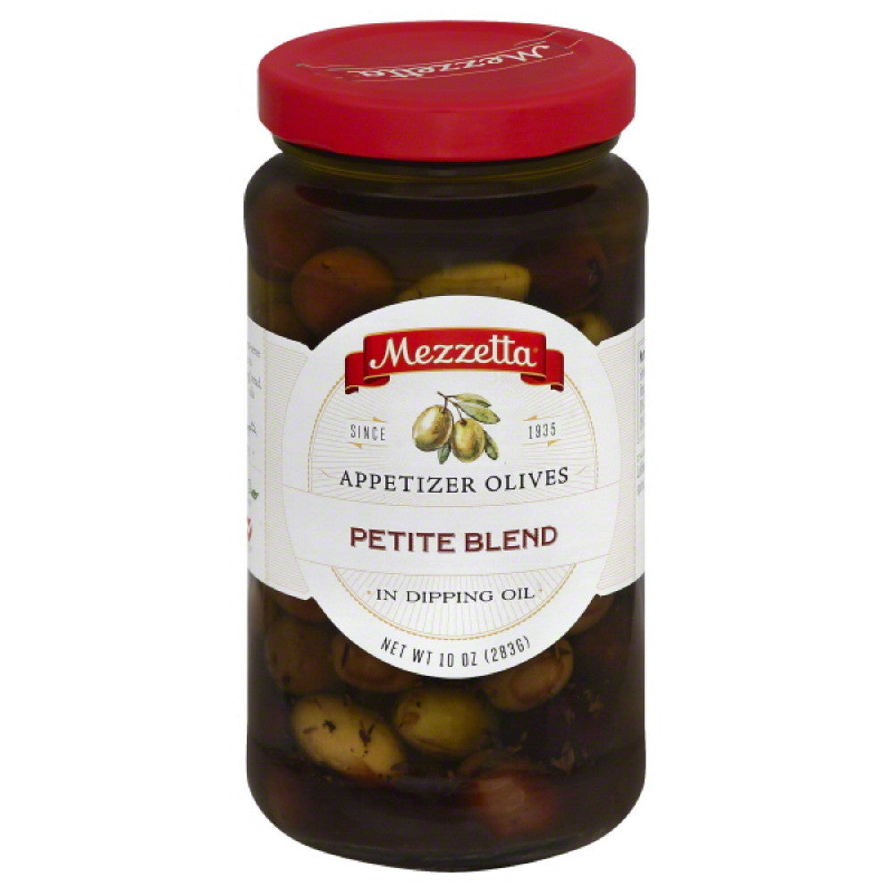 Mezzetta Appetizer Petite Blend Olives in Dipping Oil, 10 Oz (Pack of 6)