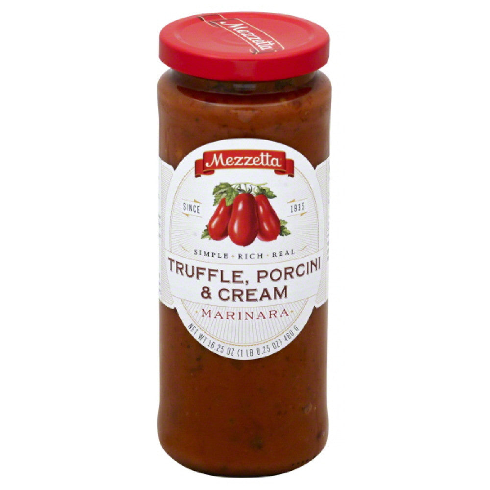Mezzetta Porcini & Cream Truffle Marinara, 16.25 Oz (Pack of 6)