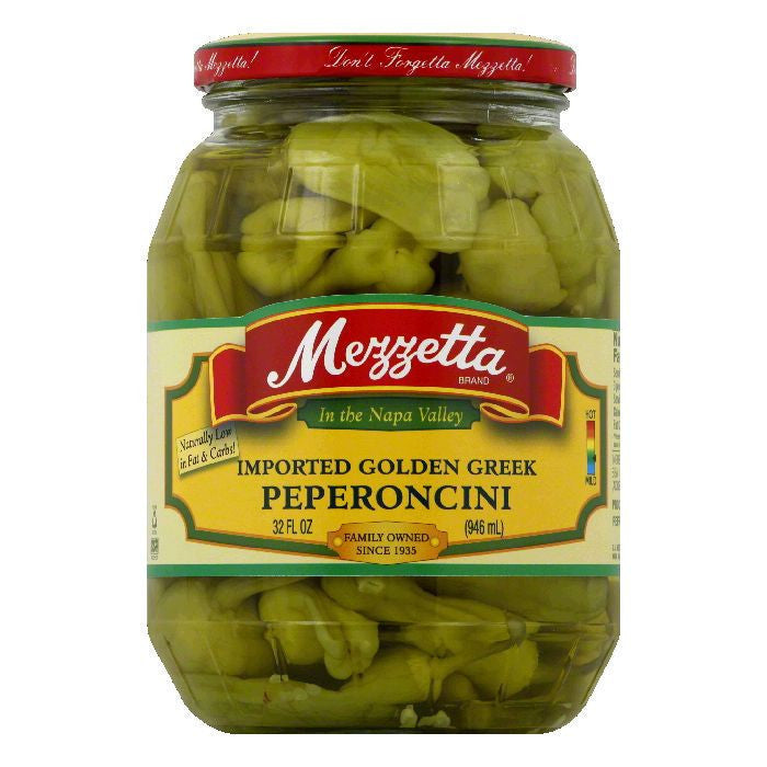 Mezzetta Peperoncini Imported Golden Greek, 32 OZ (Pack of 6)