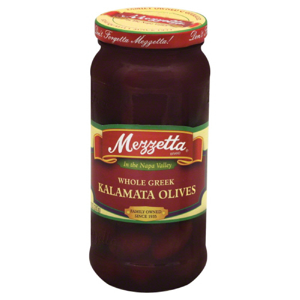 Mezzetta Whole Greek Kalamata Olives, 10 Oz (Pack of 6)