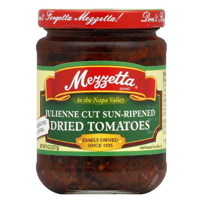 Mezzetta Julienne Sun Dried Tomatoes In Olive Oil, 8 OZ (Pack of 6)