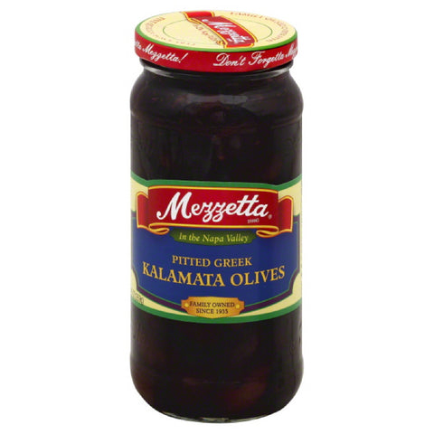 Mezzetta Pitted Greek Kalamata Olives, 9.5 Oz (Pack of 6)