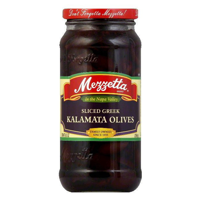 Mezzetta Sliced Calamata Olives, 9.5 OZ (Pack of 6)
