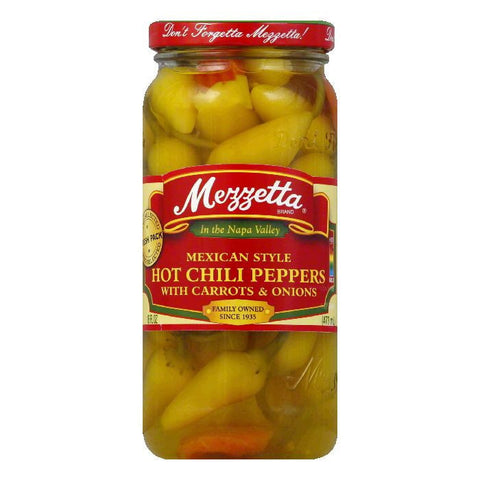 Mezzetta Mexican Style Hot Chili Pepper, 16 OZ (Pack of 6)