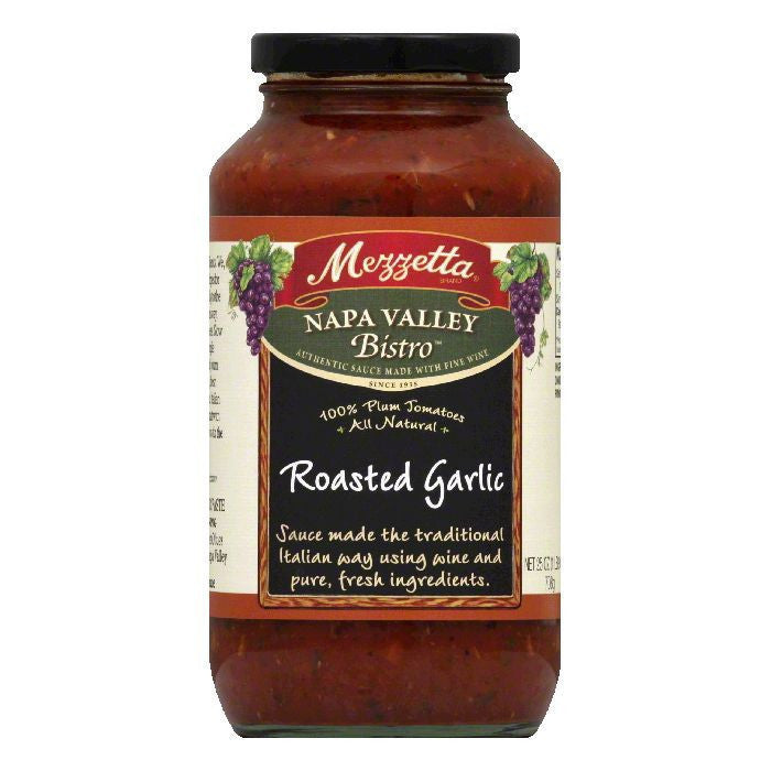Mezzetta Pasta Sauce Roasted Garlic, 25 OZ (Pack of 6)