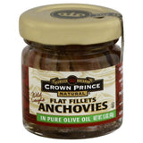 Crown Prince Flat Fillets Anchovies, 1.5 Oz (Pack of 18)