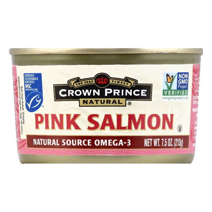Crown Prince Pink Salmon Low Sodium, 7.5 OZ (Pack of 12)