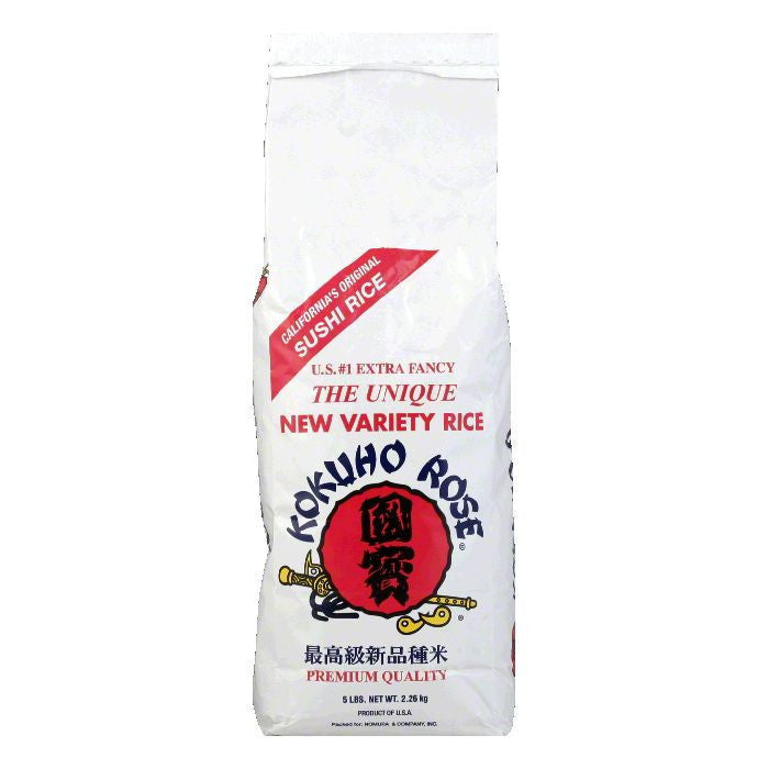 Kokuho Rose Rice 5 lbs, 5 LB (Pack of 8)