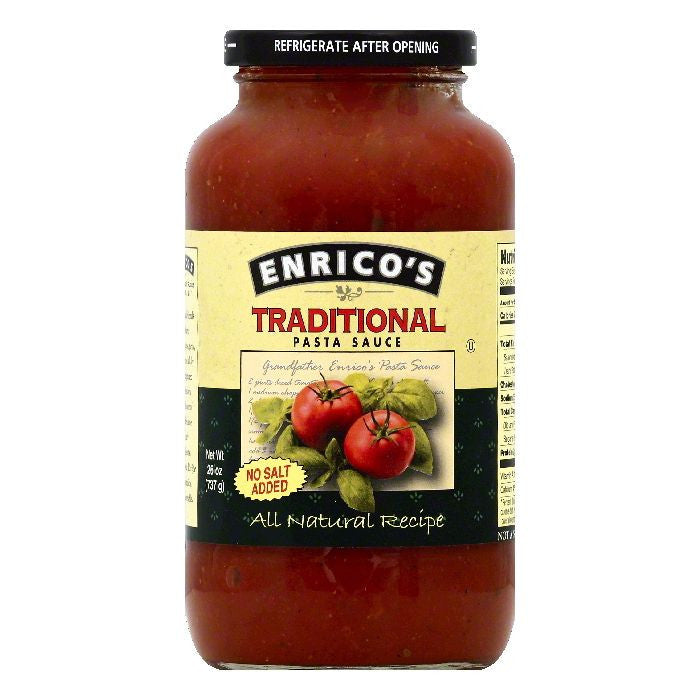 Enricos Traditional Pasta Sauce, 26 OZ (Pack of 6)