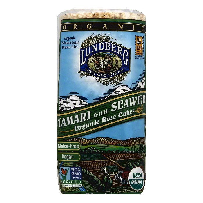 Lundberg Tamari with Seaweed Rice Cakes, 8.5 Oz (Pack of 12)