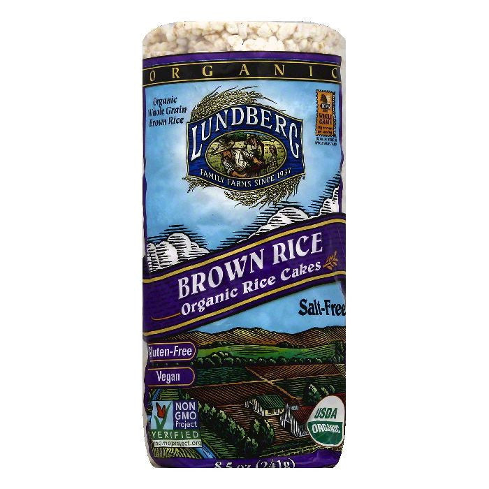 Lundberg Gluten Free Rice Cakes No Salt Organic, 8.5 OZ (Pack of 12)