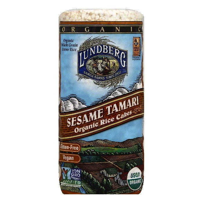 Lundberg Organic Sesame Tamari Rice Cake, 9 OZ (Pack of 12)