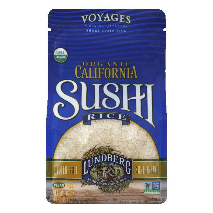 Lundberg Organic California Sushi Rice, 16 Oz (Pack of 6)