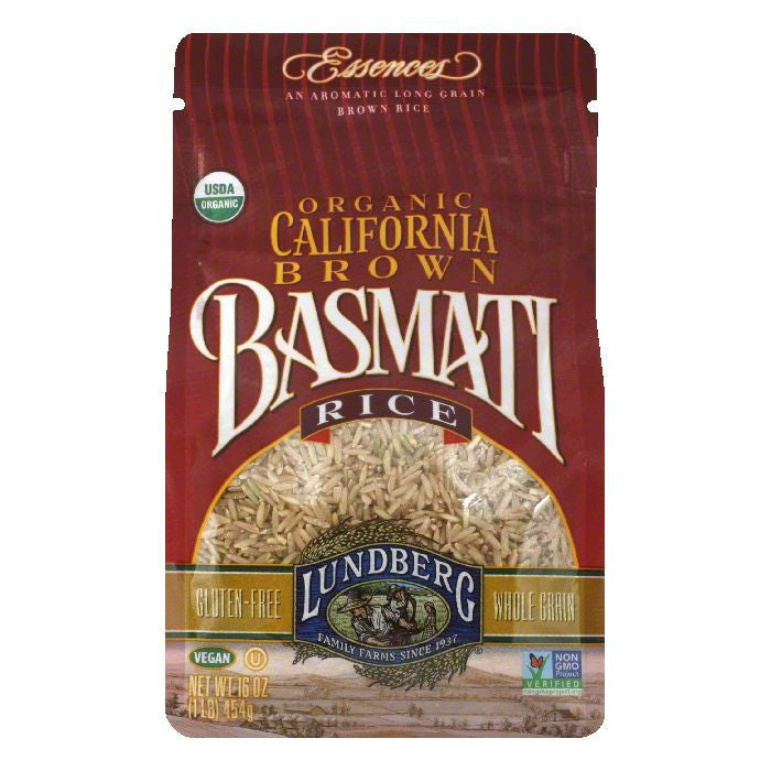 Lundberg Organic California Brown Basmati Rice, 16 Oz (Pack of 6)
