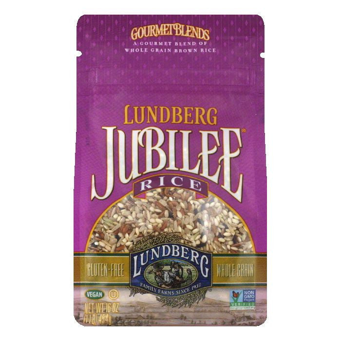 Lundberg Gluten Free Rice Eco-Farmed Jubilee Gourmet Natural Brown Blend, 16 OZ (Pack of 6)