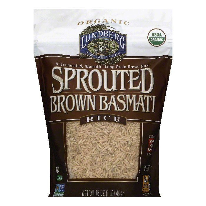 Lundberg Sprouted Brown Basmati Rice, 16 OZ (Pack of 6)