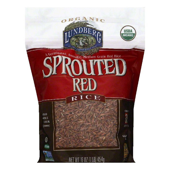 Lundberg Sprouted Red Rice, 16 OZ (Pack of 6)
