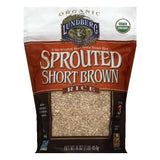 Lundberg Sprouted Short Grain Brown Rice, 16 OZ (Pack of 6)