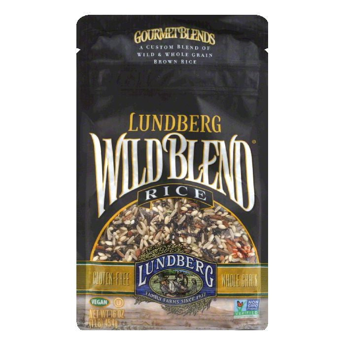Lundberg Gluten Free Rice Eco-Farmed Wild Blend Gourmet Natural Brown Blend, 16 OZ (Pack of 6)