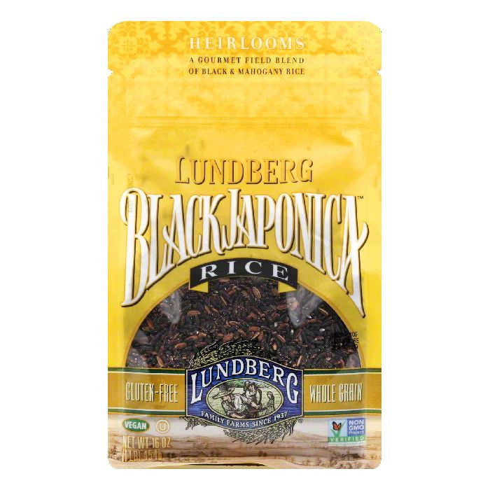 Lundberg Rice Black Japonica Gluten Free, 16 OZ (Pack of 6)