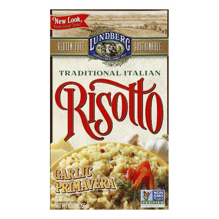 Lundberg Gluten Free Risotto Garlic Primavera, 5.5 OZ (Pack of 6)