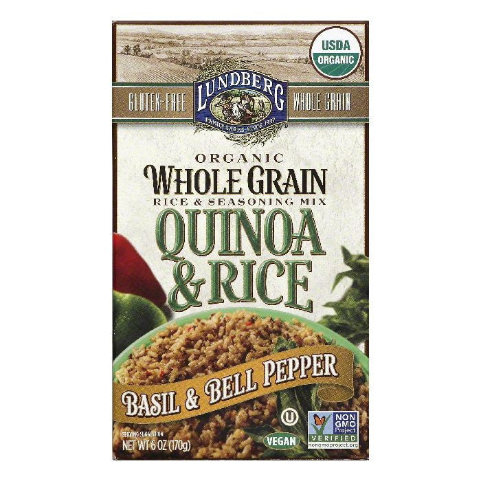 Lundberg Basil & Bell Pepper Quinoa & Rice, 6 OZ (Pack of 6)