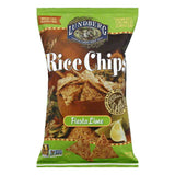 Lundberg Gluten Free Rice Chips Fiesta Lime, 6 OZ (Pack of 12)