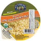Lundberg Family Farms Og Long Brown Rice Bowl Organic Heat & Eat Brown Rice Bowls 7.4 Oz Microwave Bowl (Pack of 12)