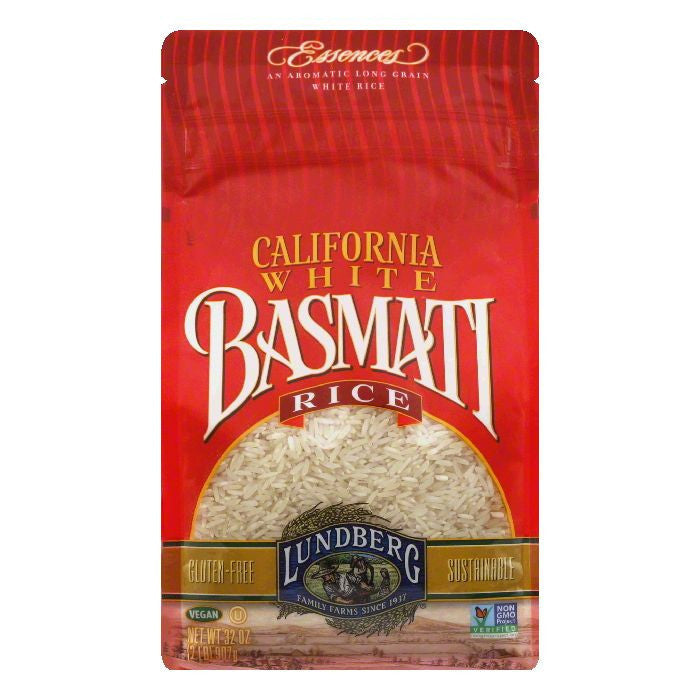 Lundberg Gluten Free White Rice California Basmati Eco-Farmed, 32 OZ (Pack of 6)