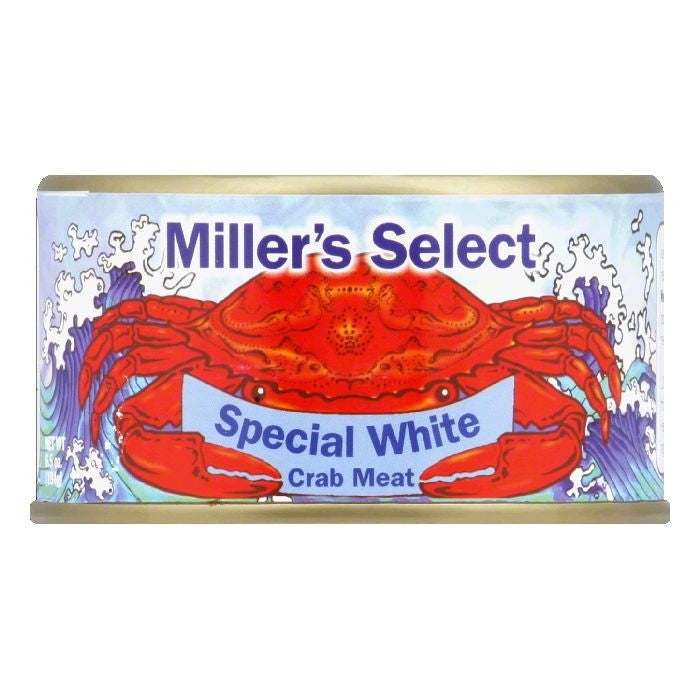 Miller's Select Premium Wild White Crab Meat, 6.5 OZ (Pack of 12)