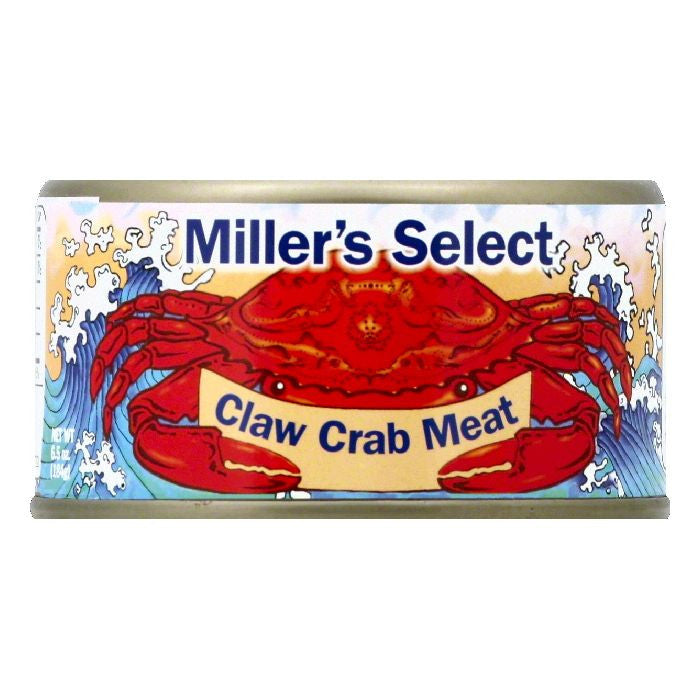 Millers Select Claw Crab Meat, 6.5 OZ (Pack of 12)