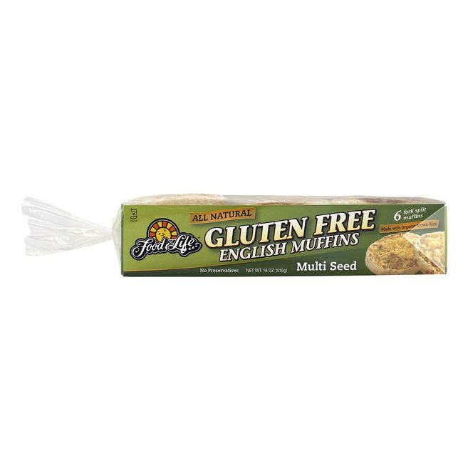 Food For Life Wheat Free Gluten Free Multi Seed English Muffins, 18 Oz (Pack of 6)