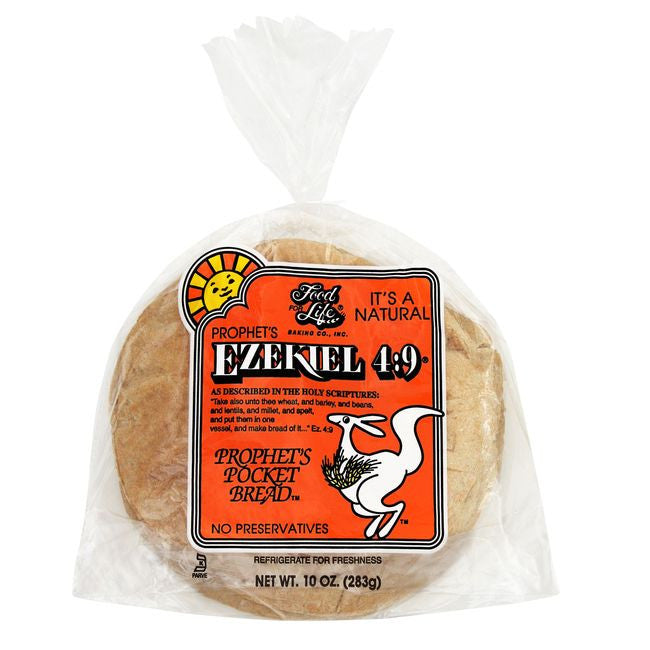 Food For Life Ezekiel 4:9 Whole Grain Pocket Bread, 10 Oz (Pack of 12)