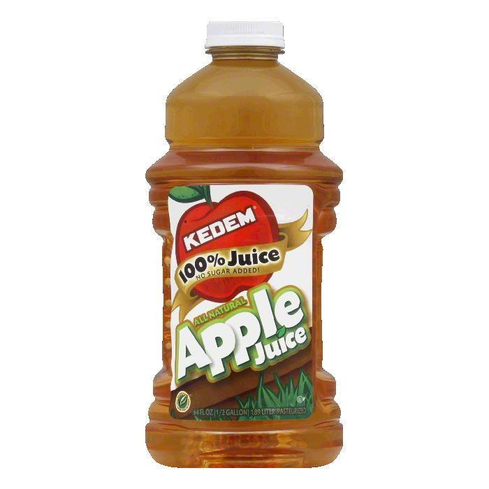Kedem Apple Juice Large Size, 64 FO (Pack of 8)