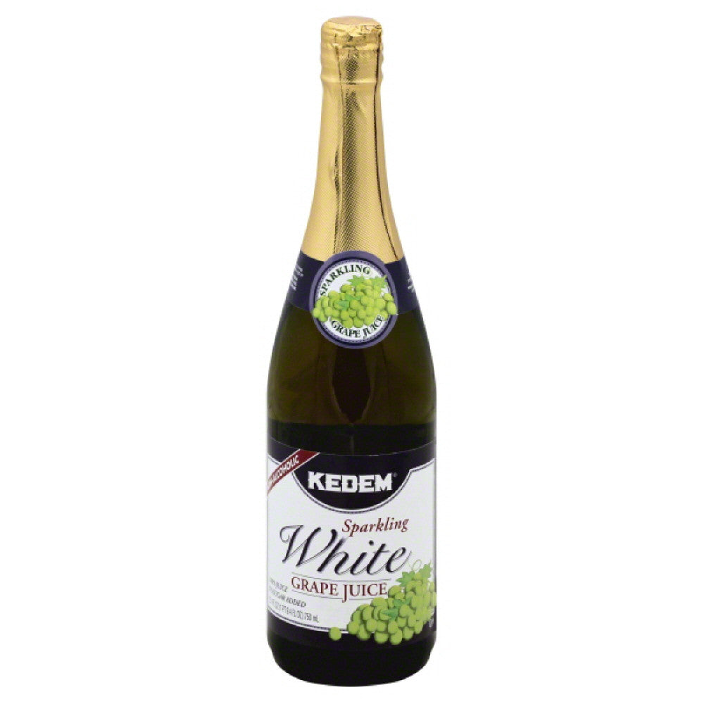 Kedem White Grape Sparkling 100% Juice, 25.4 Fo (Pack of 12)