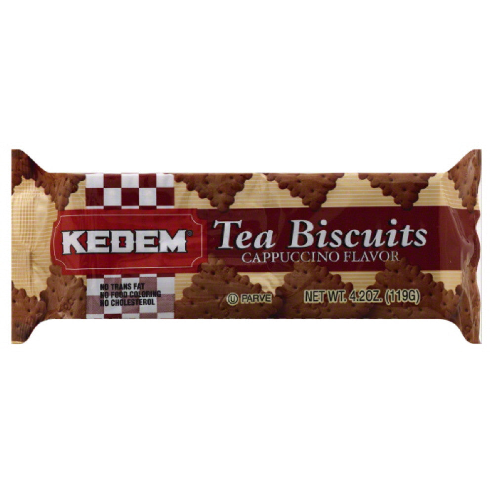 Kedem Cappuccino Flavor Tea Biscuits, 4.2 Oz (Pack of 24)