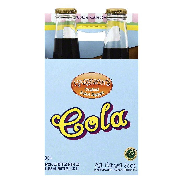Harrisons Cola Soda, 4 ea (Pack of 6)