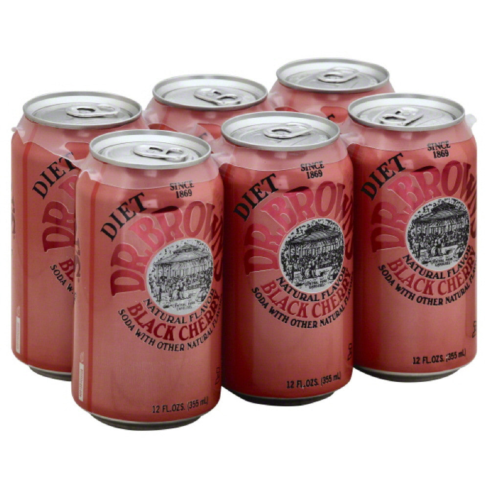 Dr Browns Caffeine Free Diet Black Cherry Soda, 72 Oz (Pack of 4)