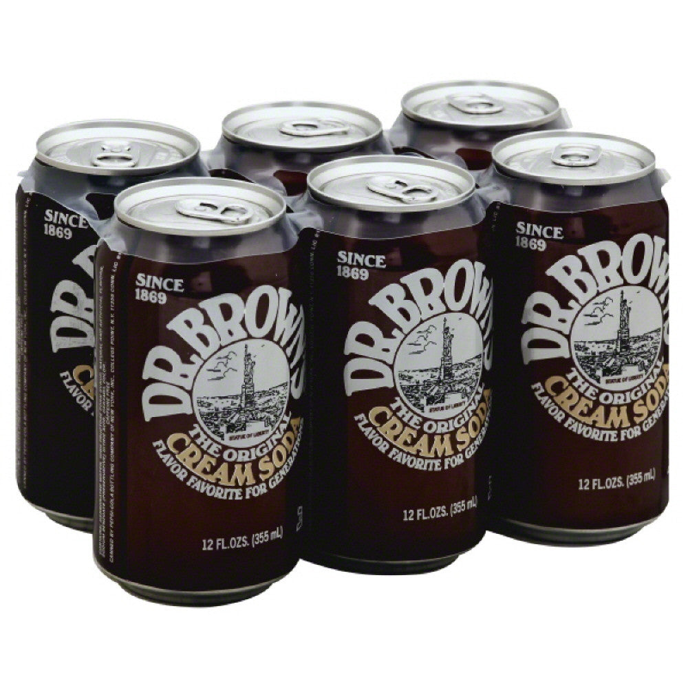 Dr Browns Caffeine Free The Original Cream Soda Soda, 72 Fo (Pack of 4)