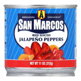 San Marcos Sliced Red Jalapeno, 11 OZ (Pack of 12)