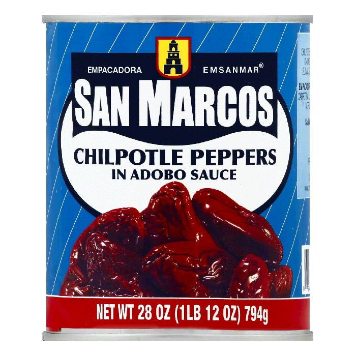 San Marcos in Adobo Sauce Chilpotle Peppers, 28 OZ (Pack of 12)
