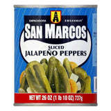 San Marcos Sliced Jalapeno Tin, 26 OZ (Pack of 12)