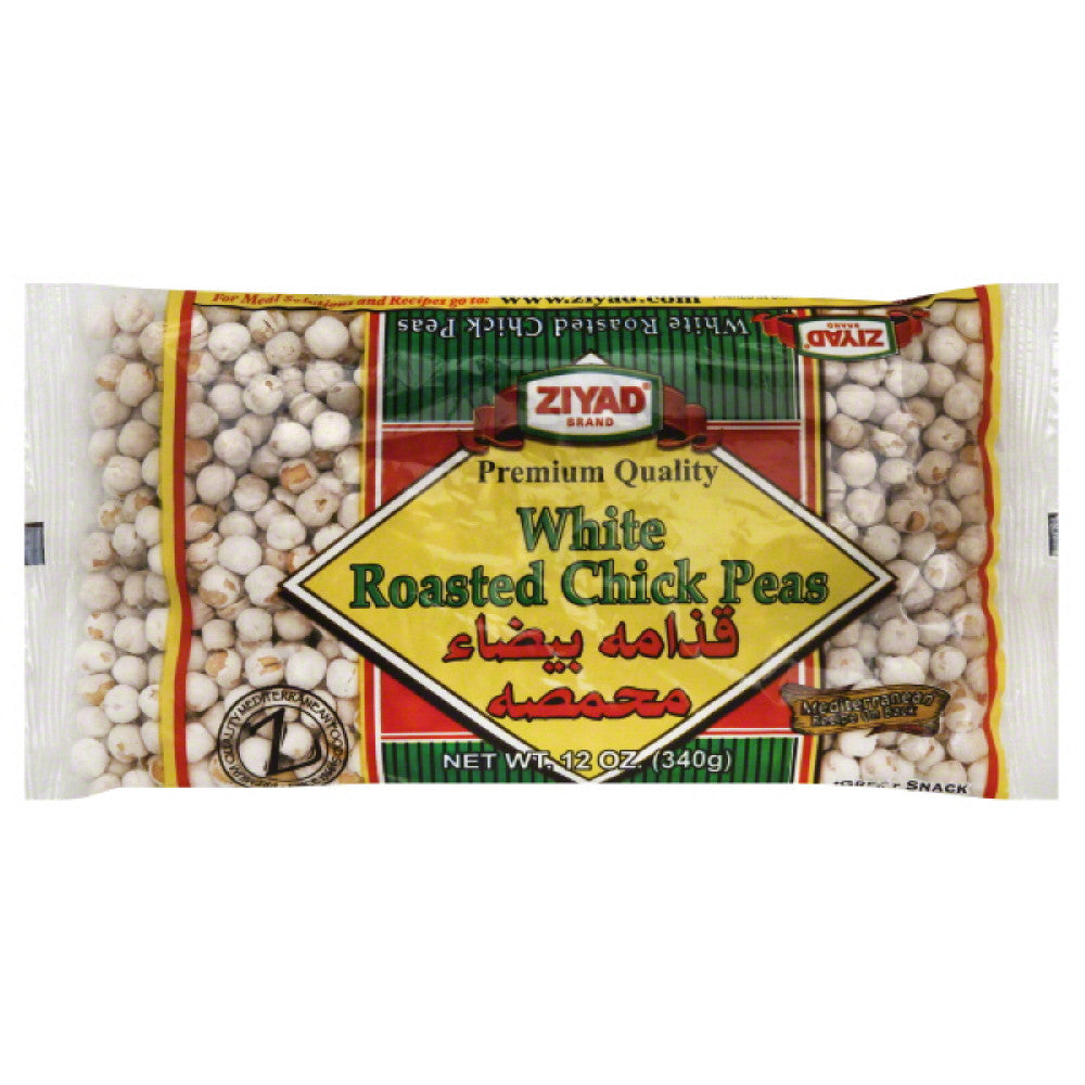 Ziyad Roasted White Chick Peas, 12 Oz (Pack of 6)