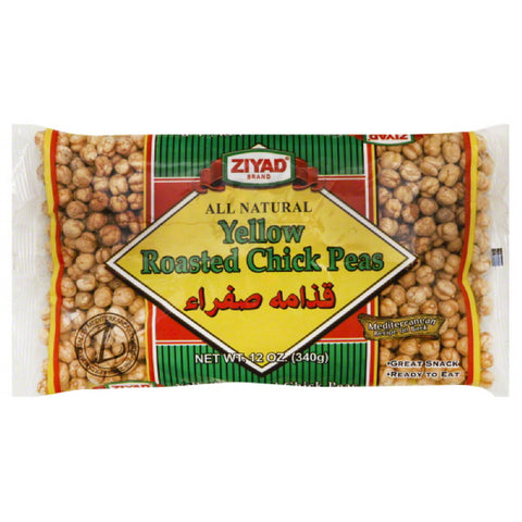 Ziyad Chick Peas Yellow Roasted, 12 Oz (Pack of 6)